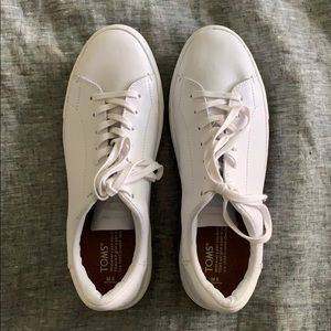 TOMS White Soft Leather MEN'S Sneakers, Shoes